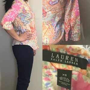 🙋🏻‍♀️ Lauren Ralph Blouse!